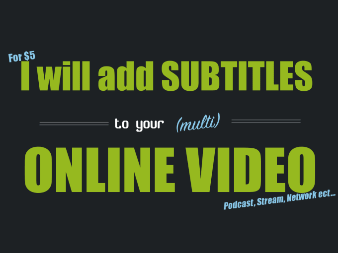 Add professional visual subtitles to your online video by ashleyscott ccuart Gallery