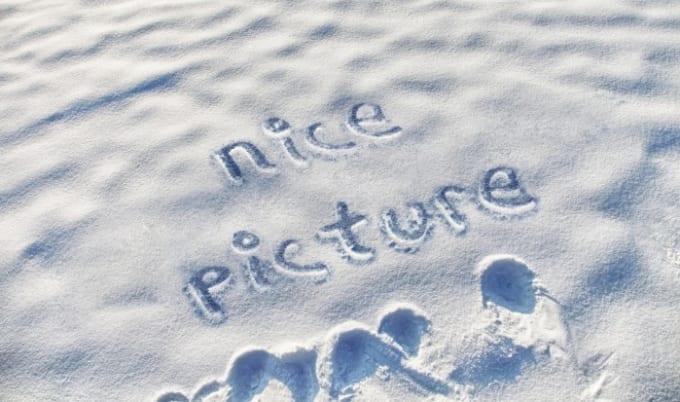 write name on snow