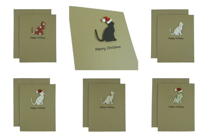 Send You A Custom Cat Christmas Card By Embellishbyjack