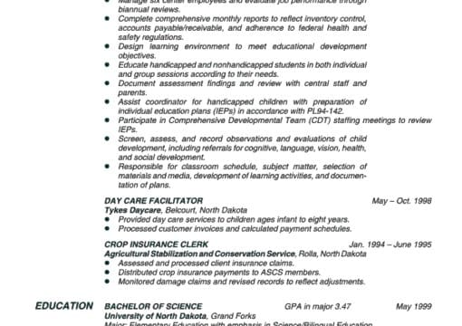 critique and provide feedback on your resume from an hr