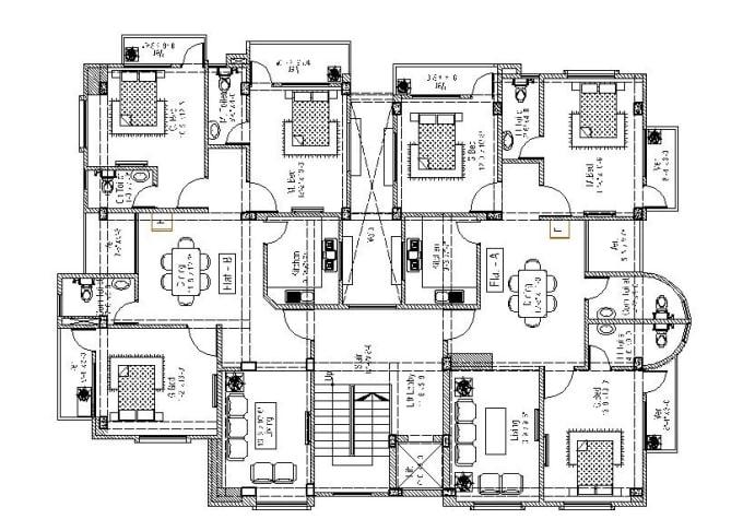 Draw architectural,interior floor plans