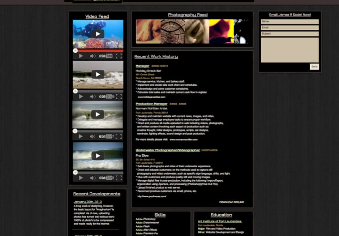 build you a custom online resume website get hired now impress your