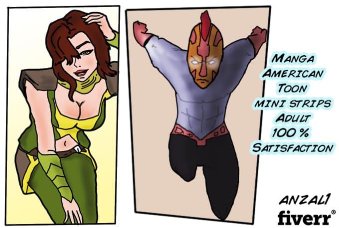 comic strip Colored