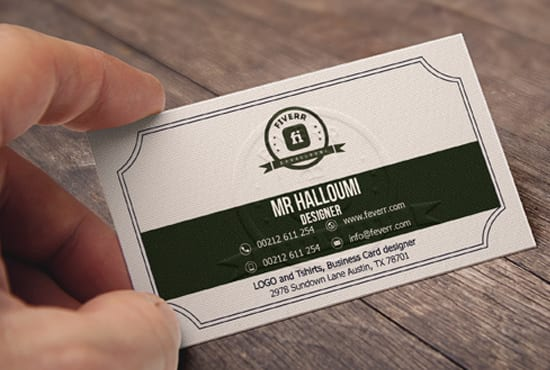 create professional vintage business card design by mrhalloumi