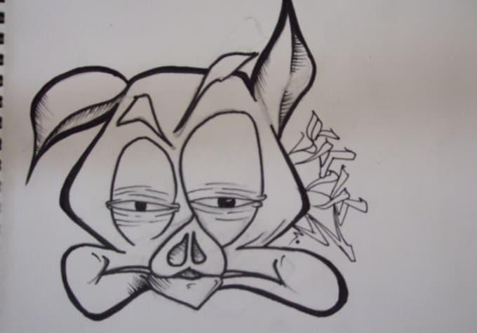 Draw you a graffiti cartoon by Sporone