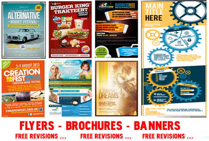 design pro grade flyers banner header with 1 free revision by