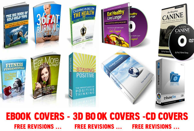 design a Pro Grade EBOOK Covers,Dvd Covers,Cd covers with 1Free revision