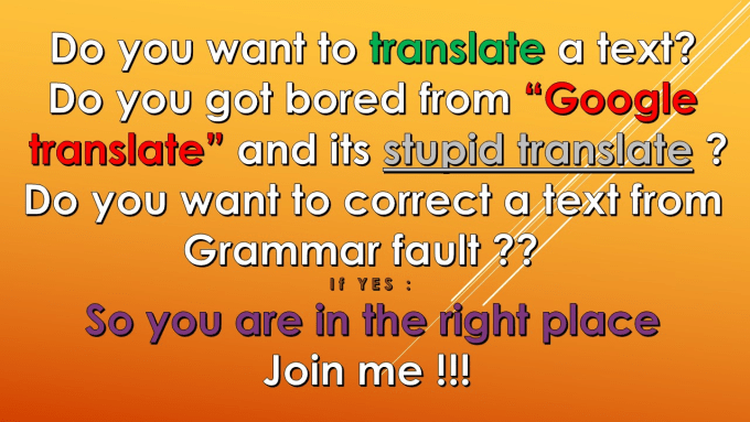 palanco9 : I will translate a text from English to french or inverse for $5  on www fiverr com