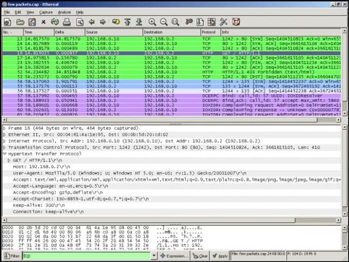 Pcap Files Analysis