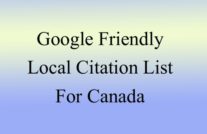 provide you google rank boosting list of citation for canada
