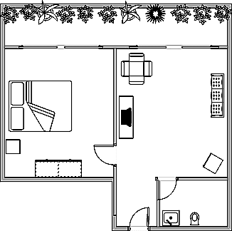 Create a simple and professional single page floor plan, org chart