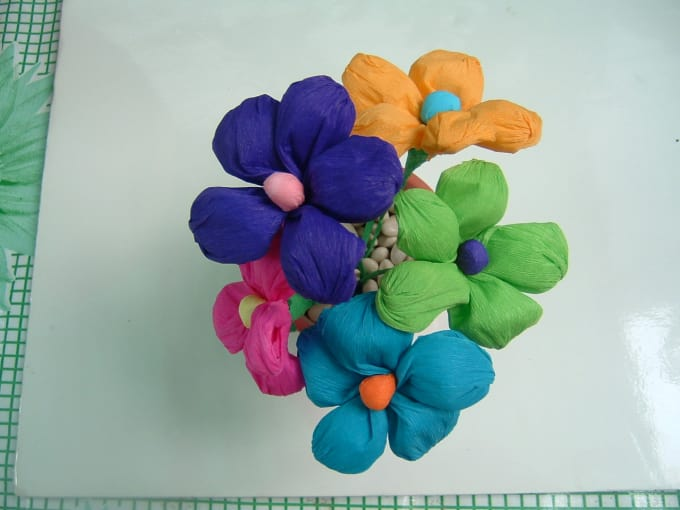 Send you a small bouquet of mexican crepe paper flowers by manosmias send you a small bouquet of mexican crepe paper flowers mightylinksfo