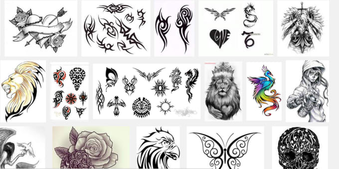 Give you 1000 tattoo design images, use these to post website or ...