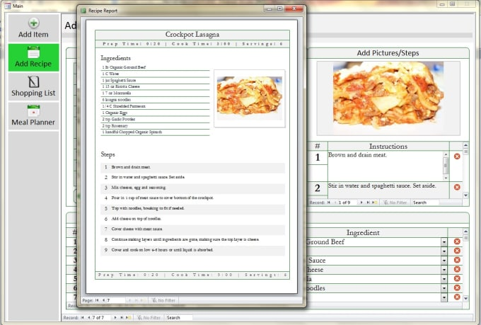 Meal planning database vatozozdevelopment meal planning database forumfinder Image collections