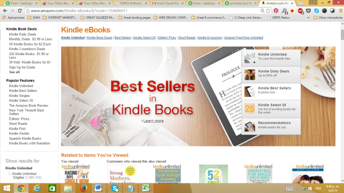 leadingent : I will submit your Free Kindle book to 22 sites for $5 on  www fiverr com