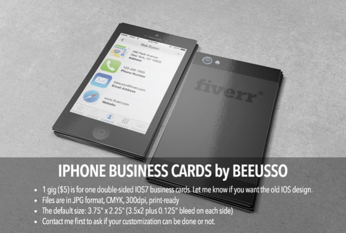 Create personalized iphone themed business cards by beeusso create personalized iphone themed business cards reheart Images