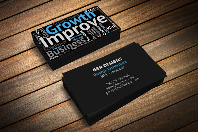design a word cloud business card by sheendesign