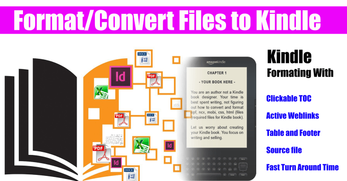 jayaraj5955 : I will do Kindle formatting conversion from any file formats  with TOC links for $5 on www fiverr com
