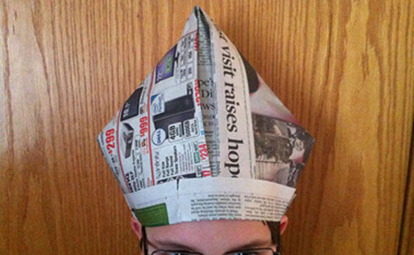 Make you a newspaper pope hat by Awesomemazing 9ad1b8555a7a