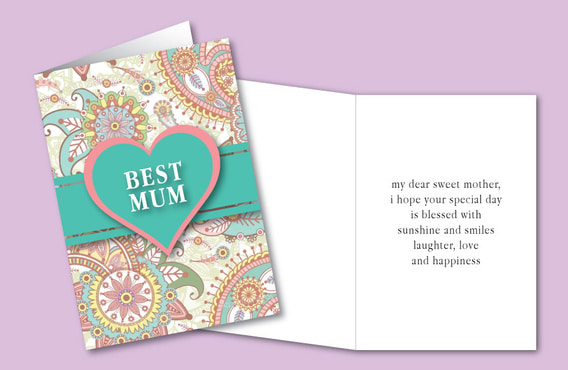 design you a custom mothers day greeting card or certificate that