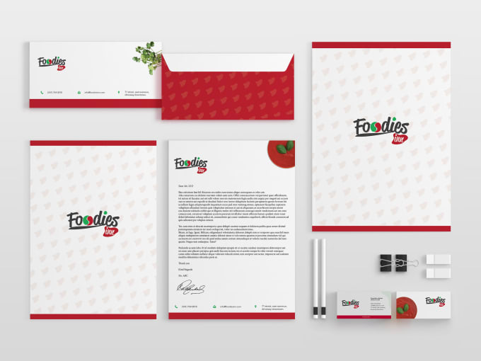 create modern letterhead and stationary items