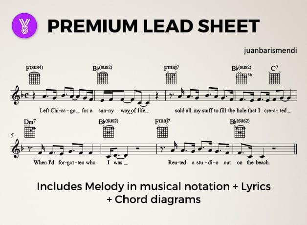 Create A Lead Sheet Chord Chart Or Sheet Music