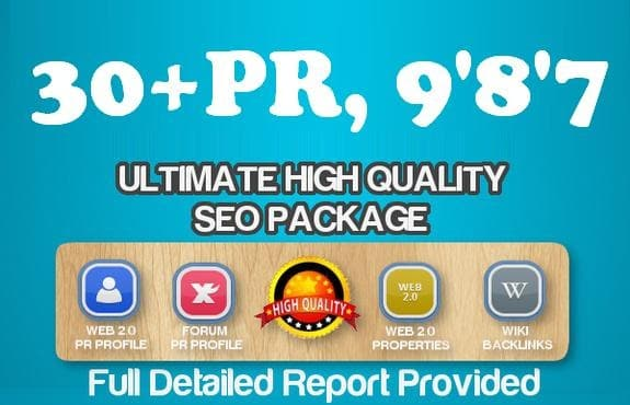 manually create 30 real PR9,8,7 DOFOLLOW backlinks from high authority  sites,
