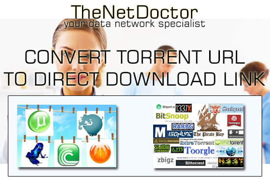 how to convert torrent to direct link