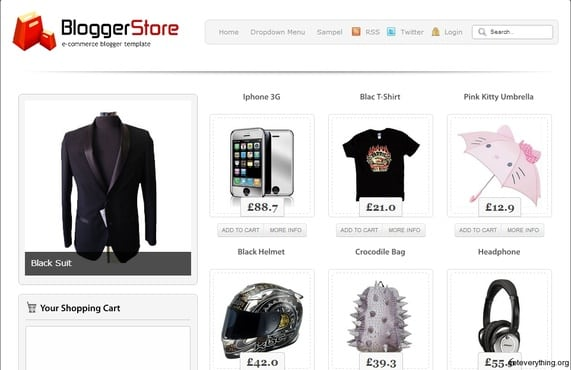 Send Top 5 Ecommerce Blogger Templates By Pinter Mary