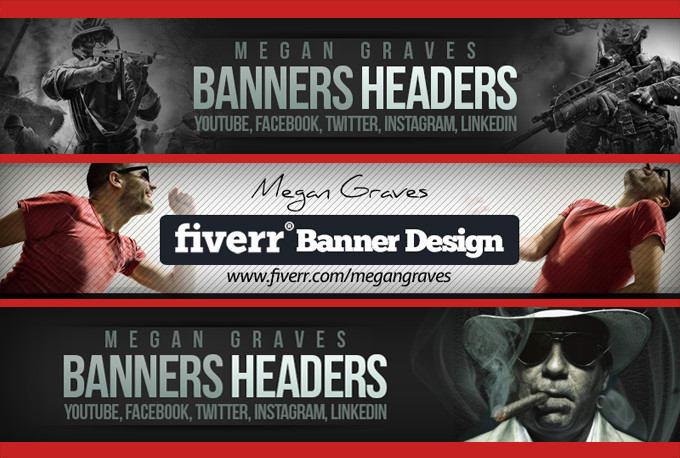 Design Facebook Banner Twitter Header Or Linkedin Banner