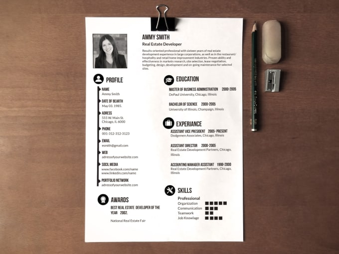 Create Awesome CV Or Resume Design