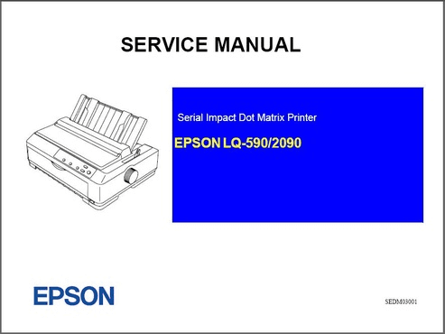 epson lq 590 lq 2090 dot matrix service manual pdf