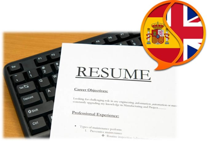 I Will Translate Your Resume From Spanish To English