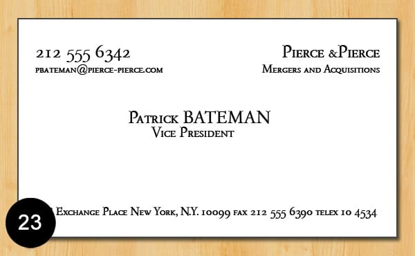 Give you patrick batemans business card template by jeibes23 give you patrick batemans business card template flashek