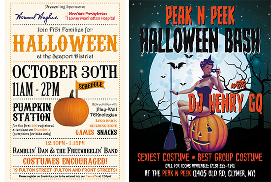 design attractive halloween flyers and posters by hera10
