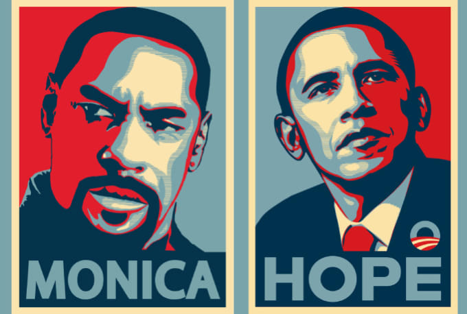 create your portrait in obama hope poster style by ovisheikh