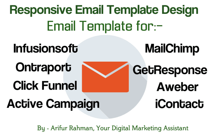 Create email template for ontraport, infusionsoft, mailchimp, active ...