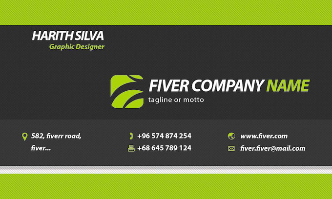 Your Personal Graphic Designer And Unique Business Card In All Formats Just