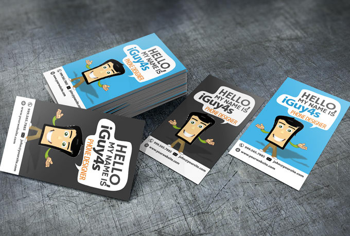 Character Design Business Card : Create business cards iphone gallery card design and