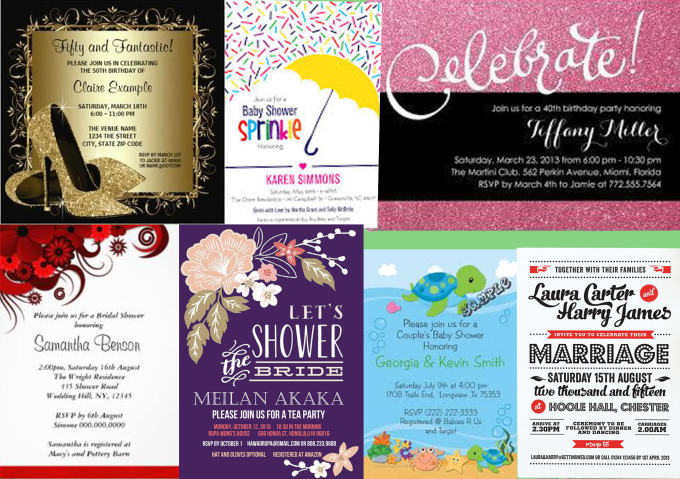 design retro invitations for any occasion by mmnicejob