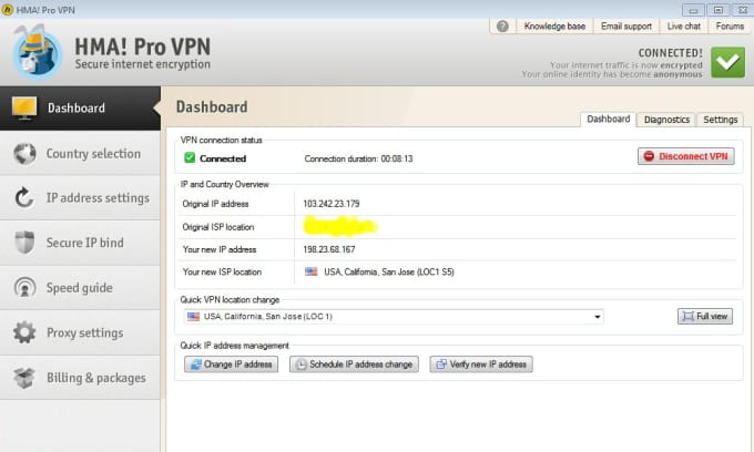 give HMA Pro vpn for 1 month