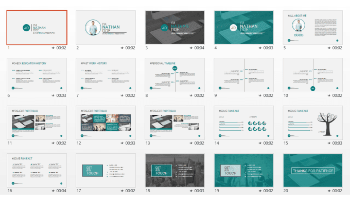 design custom powerpoint template for branding projectfayejkhan, Modern powerpoint