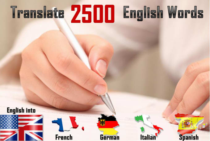 Words In Italian Translated To English: Translate 2500 English Words To German, French, Spanish
