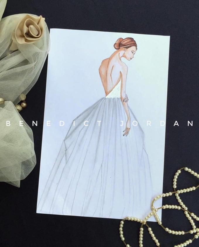 Draw A Fashion Sketch Of Your Own Design By B Jordz