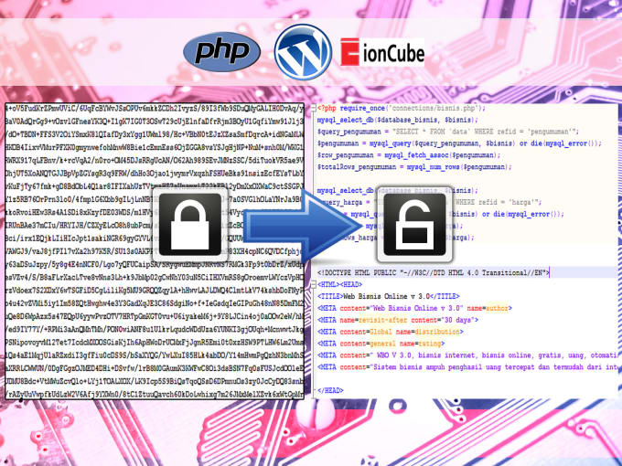 jhonyboy : I will decode IONCUBE encrypted or obfuscated php files for $5  on www fiverr com