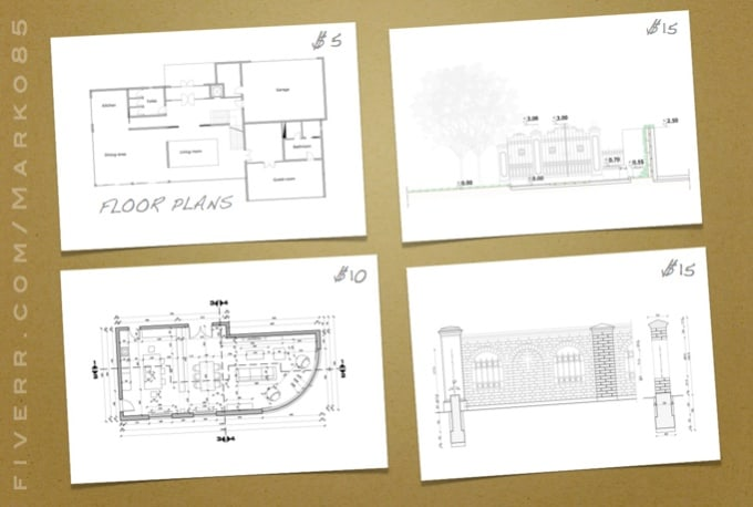 Draw house plans from your sketches by marko85 for Advanced search house floor plans