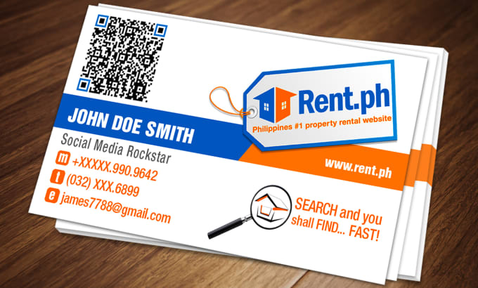 Personalized double sided business card w qr code by jamesliberman personalized double sided business card w qr code reheart Choice Image