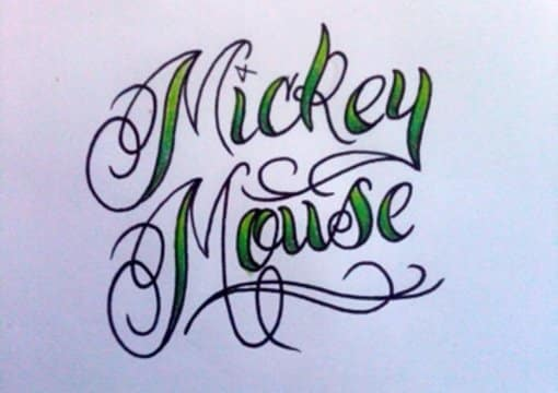 draw any name or word for you in tattoo style script lettering with accents