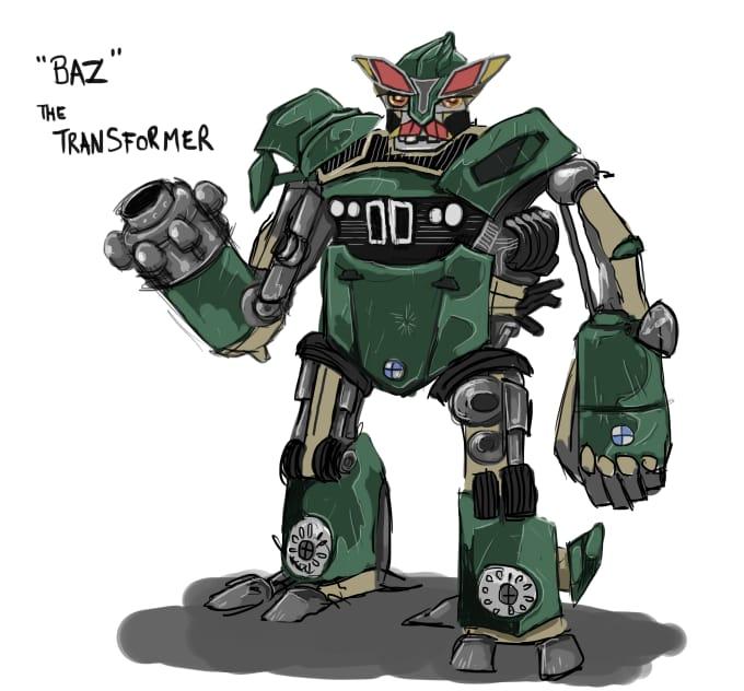 Draw your car as a transformer robot by Idrawcartoons
