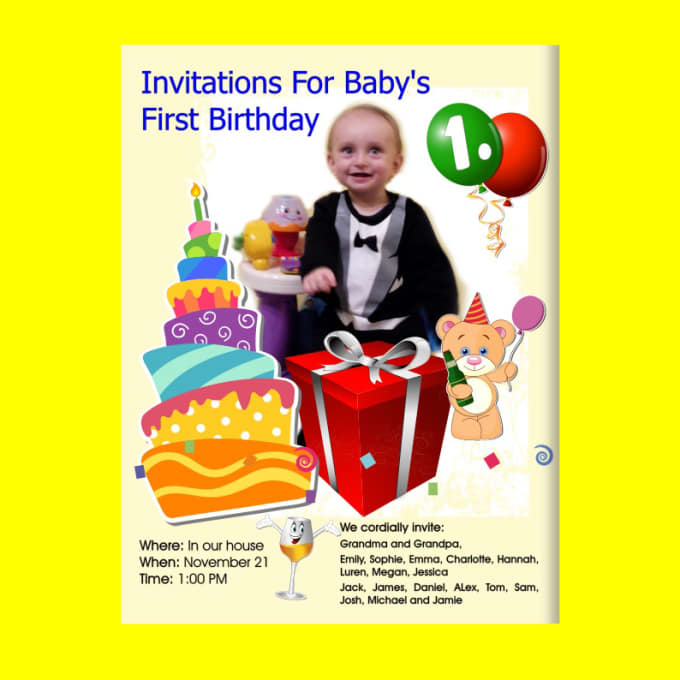 Design WhatsApp Birthday Card Or Any Other Invitation